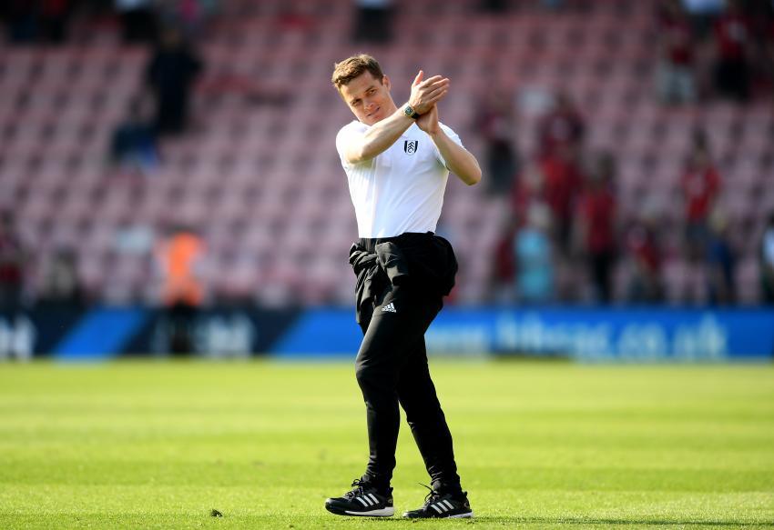 Scott Parker of Fulham applauds the crowd