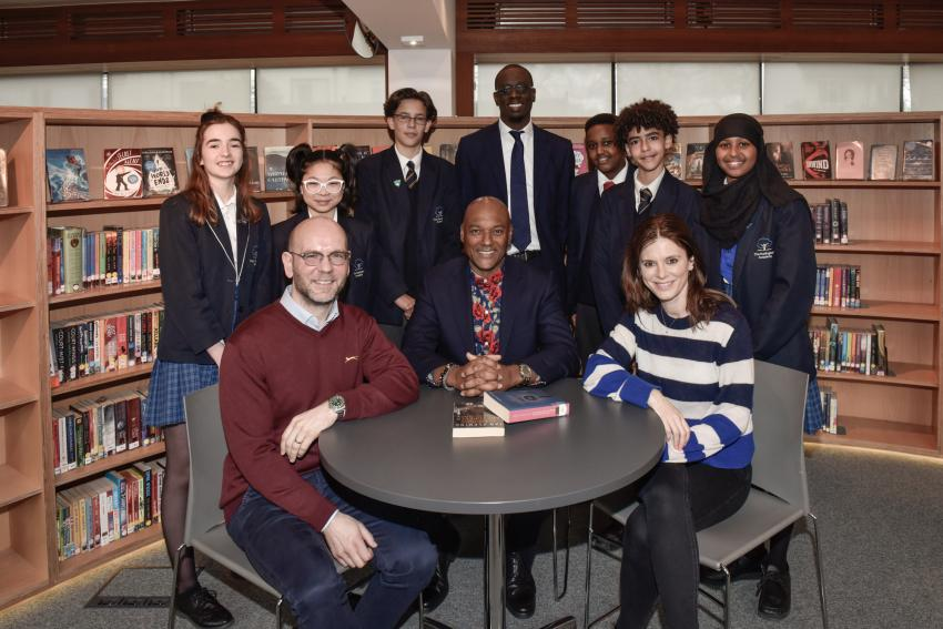 Cast and crew from Silent Witness at Hurlingham Academy
