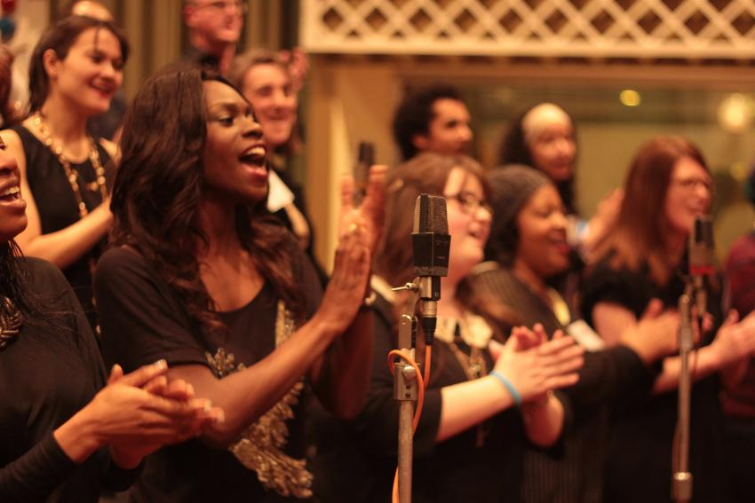 The Soul Sanctuary Gospel Choir performing
