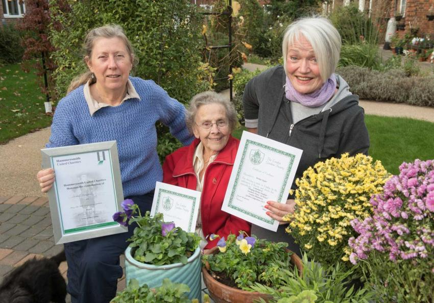 Residents at Sycamore House received an award for their green-fingered efforts last year