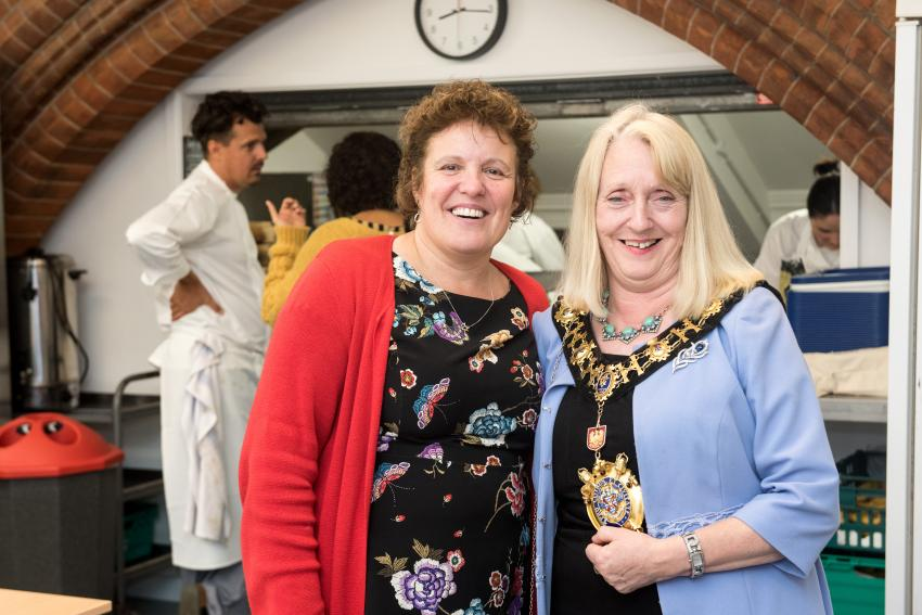 The opening event for the grand refurbishment of The Upper Room with Nicky Flynn and Cllr Daryl Brown in attendance