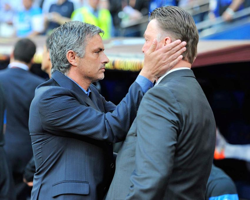 Jose Mourinho (left) and Louis van Gaal. Picture: Action Images