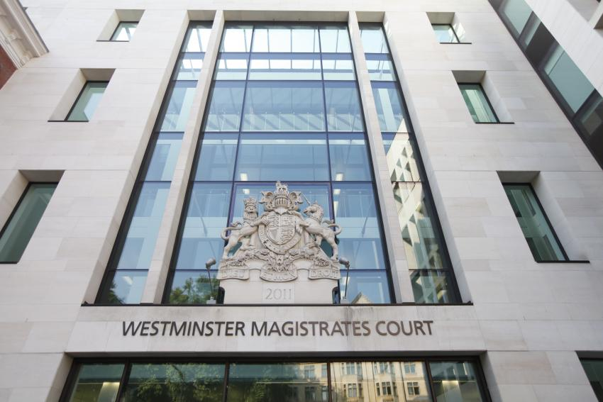 Exterior view of Westminster Magistrates Court