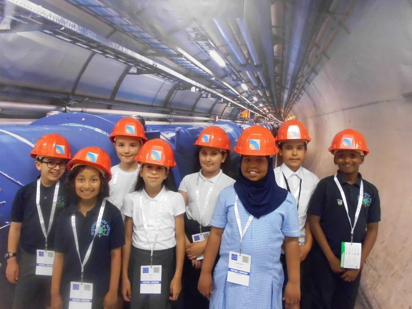 Wormholt Park Primary School pupils at CERN in Switzerland