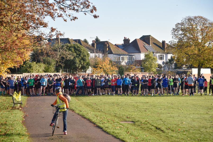 The start line in Gunnersbury Park