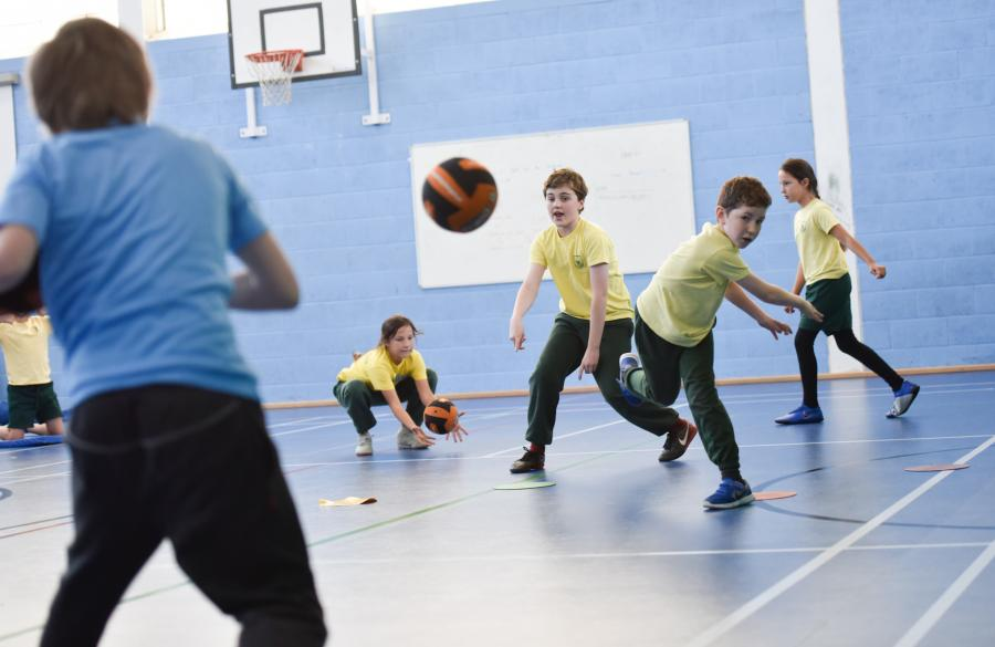 All Saints dodgeball team in action