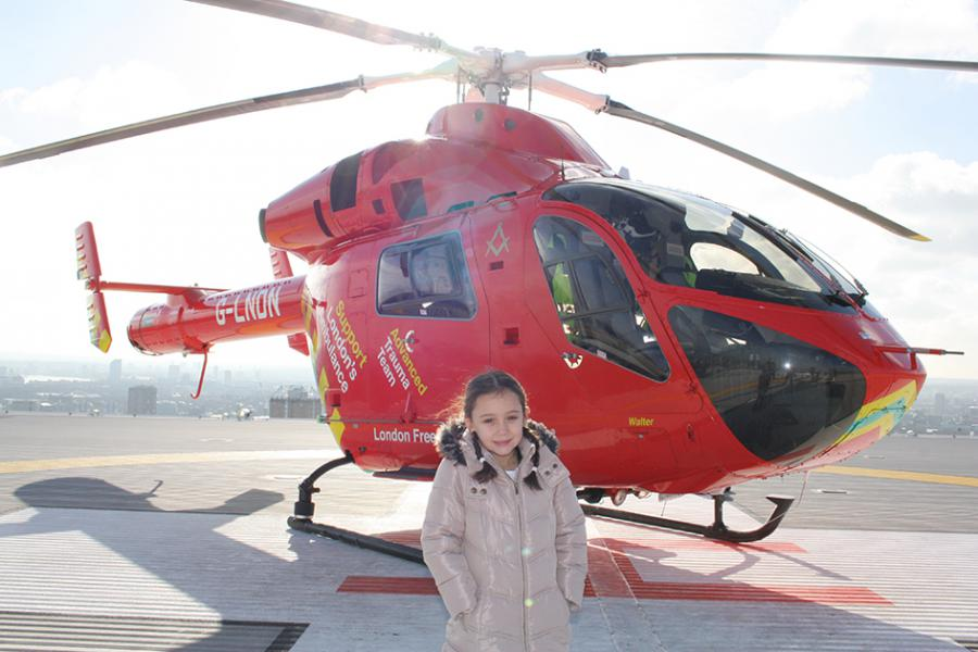 The air ambulance is named Walter after Megan's late grandfather.