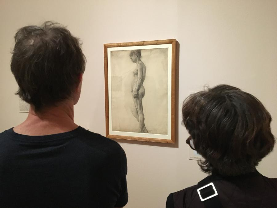 Archibald Hartrick's drawing of a nude model