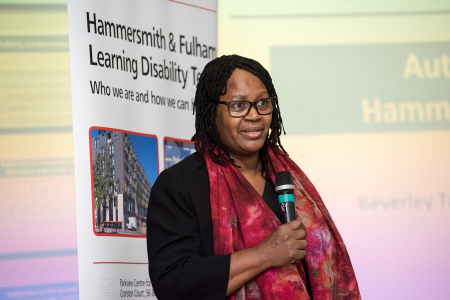 Beverley Tarka from Haringey Council spoke at the workshop to share her experiences