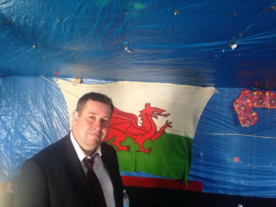 Cllr Stephen Cowan at the Calais refugee camp