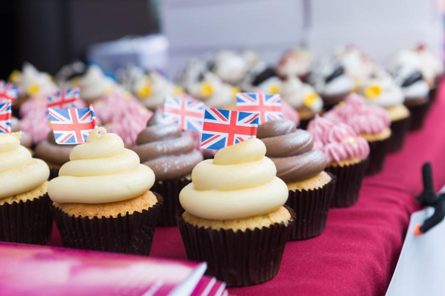 Cup cakes on sale as part of the Westfield ArtsFest celebrations