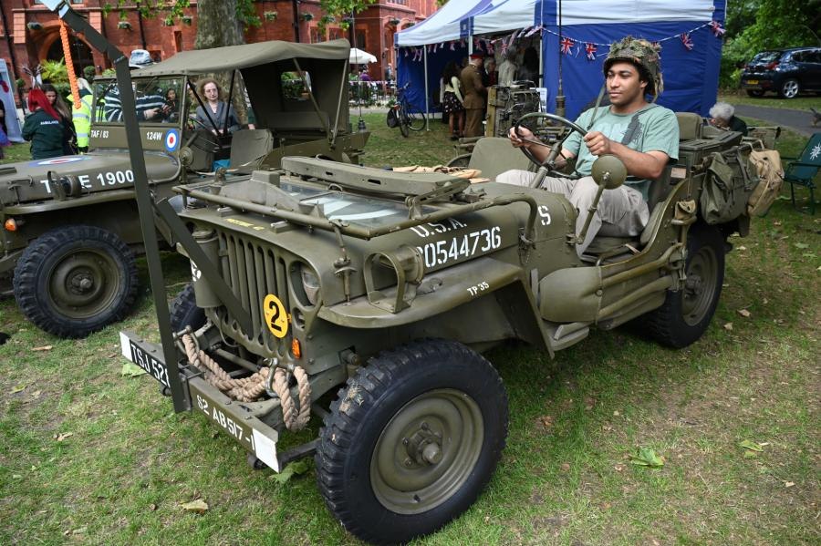 Second World War jeep on display at the D-Day event