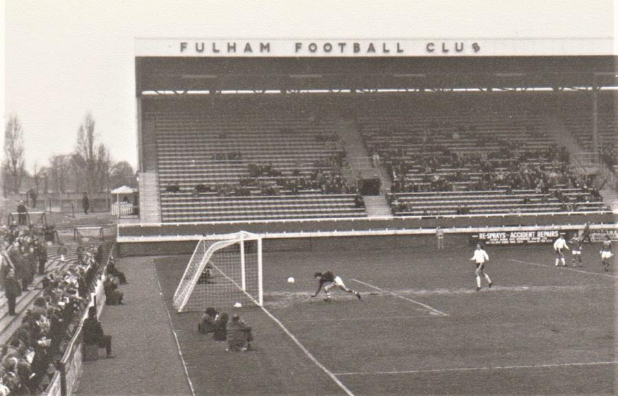 Signage on the Riverside Stand in the early 1970s