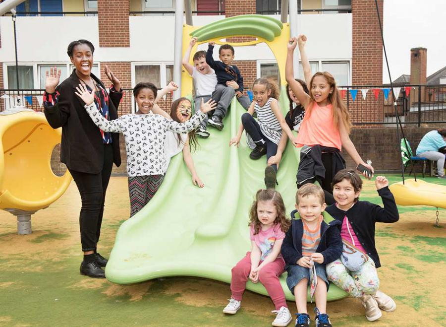 The new play equipment has already been put to good use by local families