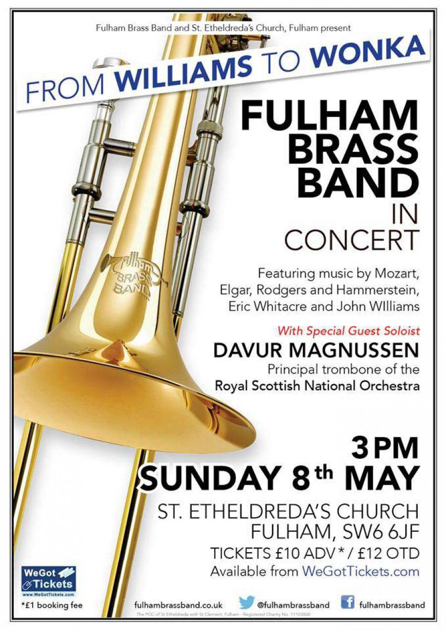 Fulham Brass Band 8 May concert flyer
