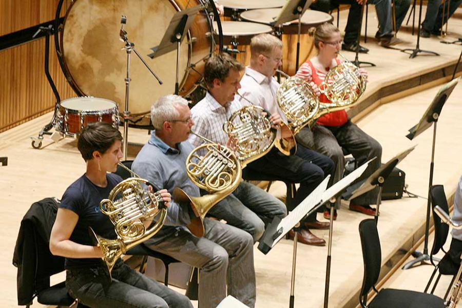 Fulham Symphony Orchestra's horn section