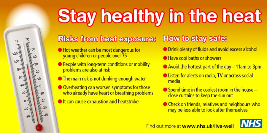 Stay healthy in the heat tips