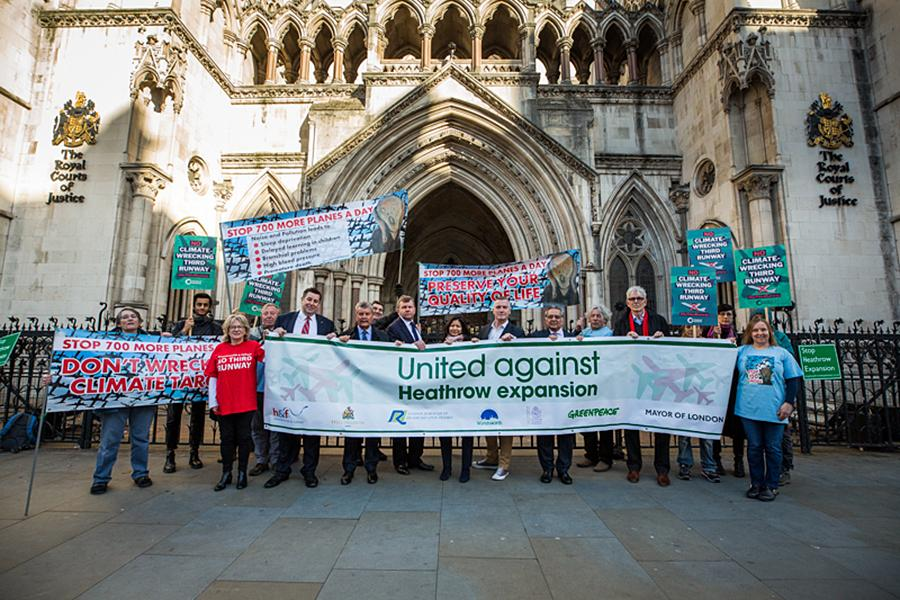 The coalition of local authorities opposed to Heathrow expansion at the High Court