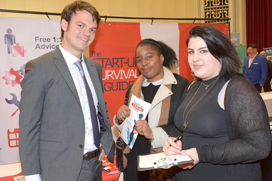 New start-ups were able to get advice and support at the event