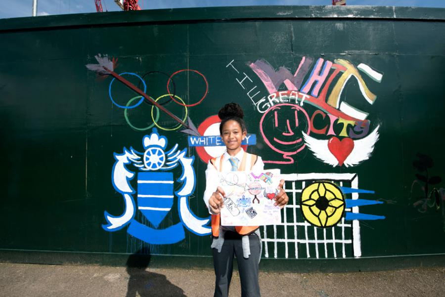Michelle Fareta designed an ideas board, featuring the 1908 Olympics and local QPR football