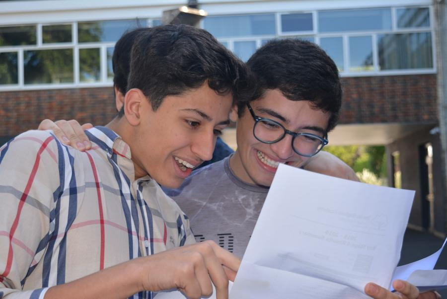 Hurlingham Academy students excited at their GCSE results