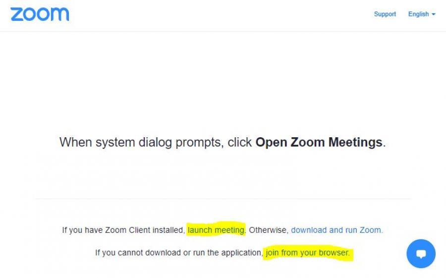 Launch Zoom Meeting
