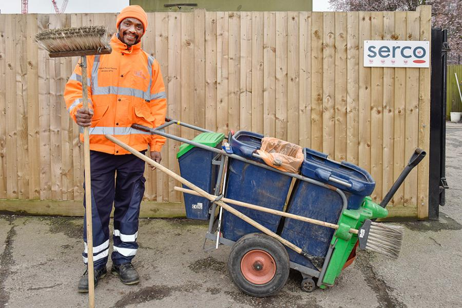 Award-winning H&F street cleaner Lazarus Eliodore