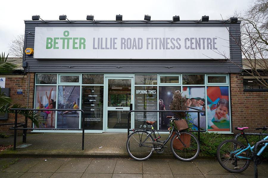Entrance to Lillie Road Fitness Centre