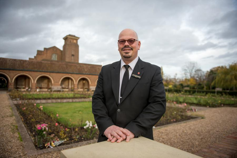 Steve Biggs is Mortlake Crematorium's award-winning chapel attendant