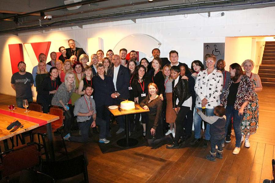 Staff at the Lyric celebrate the first anniversary of their re-opening