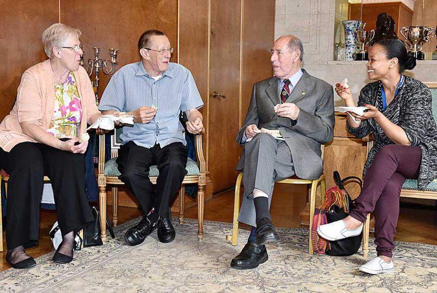 Carers were enjoyed a tea after being thanked for their hard work