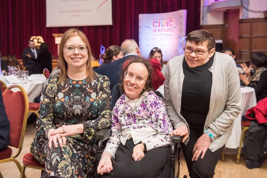 Kate Betteridge, Victoria Brignell and Cllr Patricia Quigley