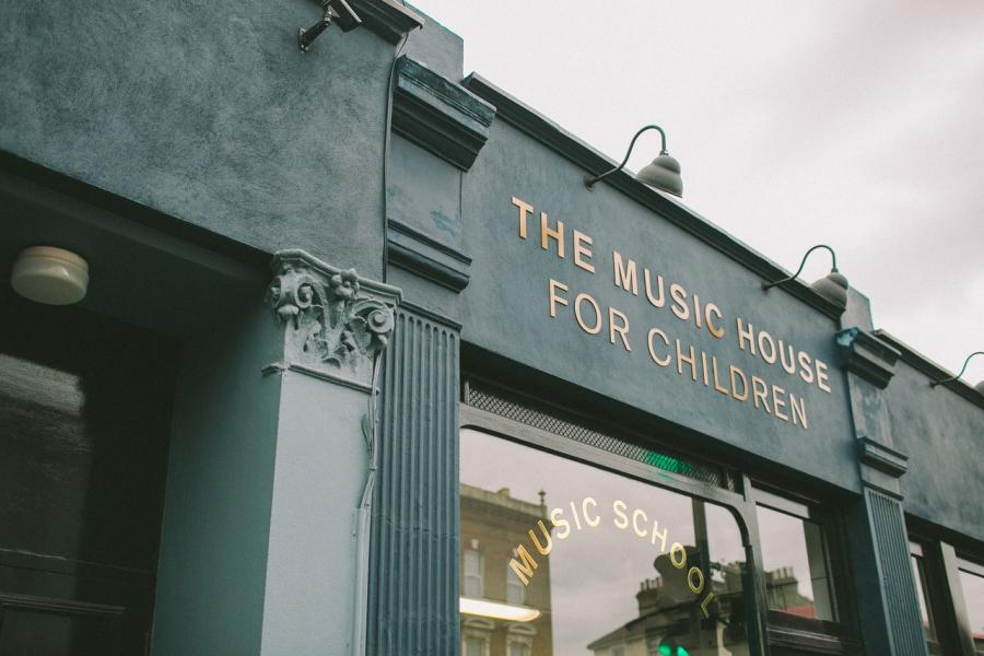 Exterior of the Music House for Children at 306 Uxbridge Road in Shepherds Bush