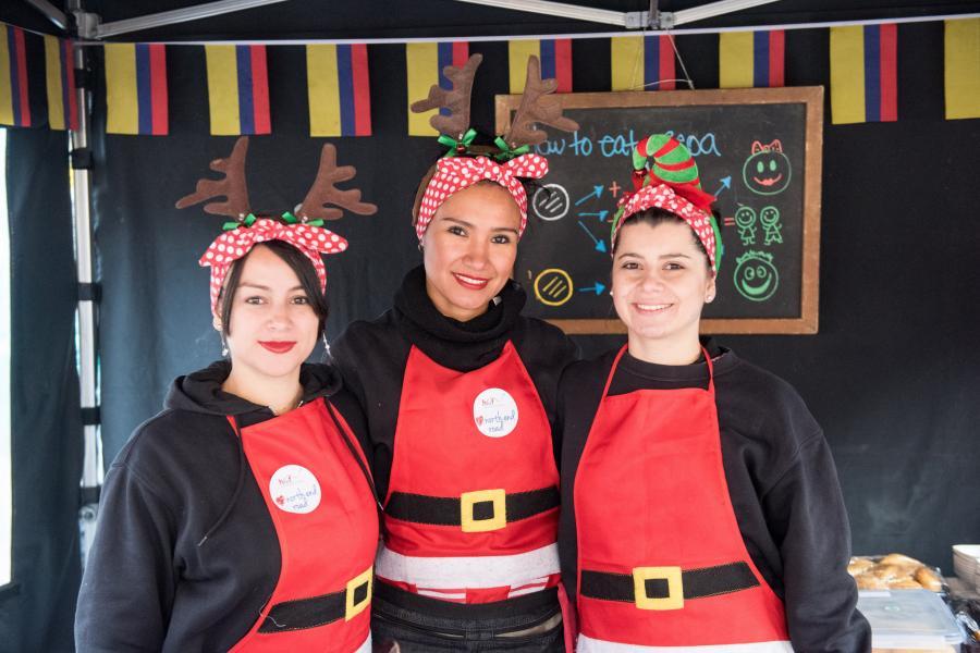 North End Road Christmas Market seasonal stall