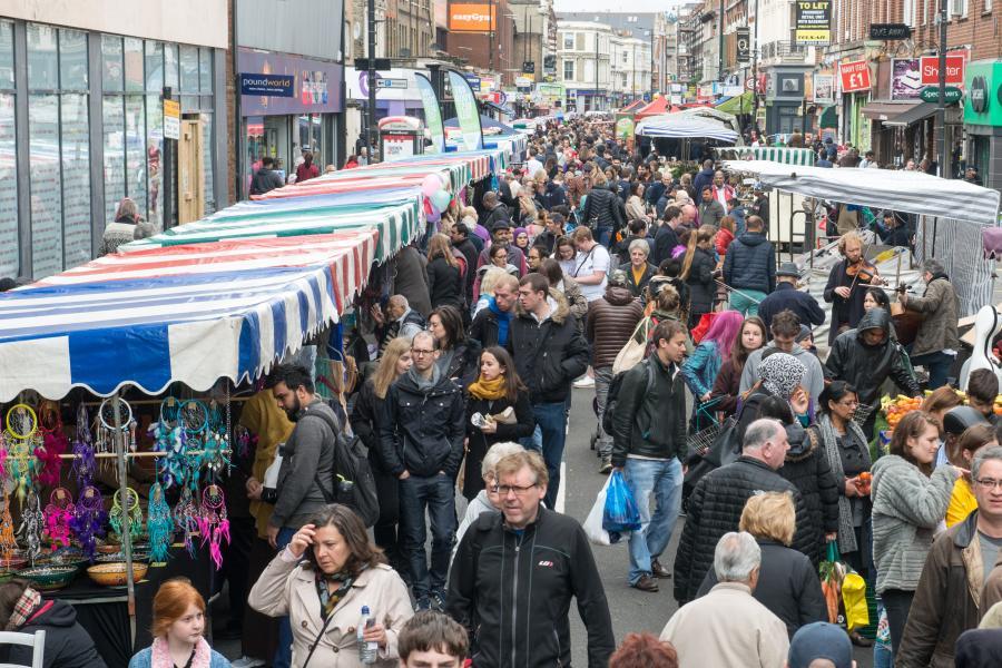 North End Road traffic-free Spring Market