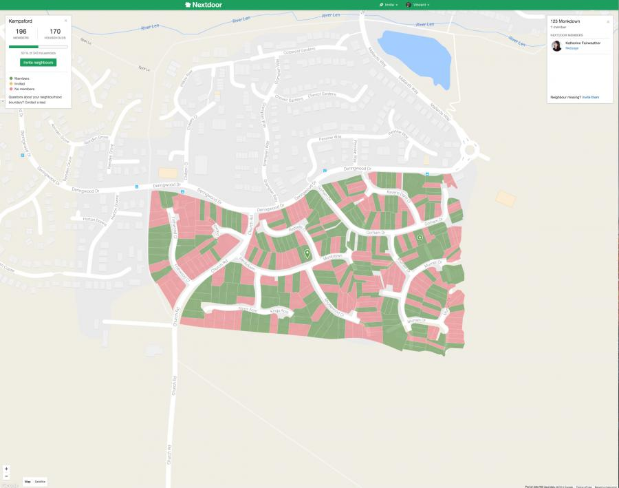 Nextdoor demo map