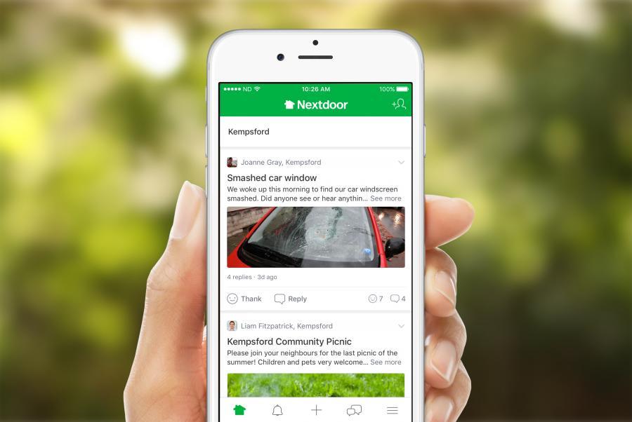 You can access Nextdoor on your smartphone