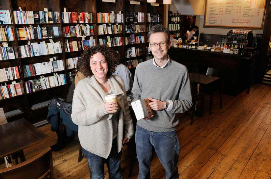 Owners Harriet Morton and Andrew Turton of Nomad books in Fulham Road