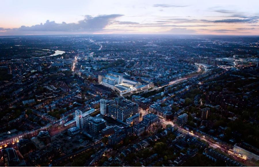 Artists impression: aerial view of redevelopment of Olympia