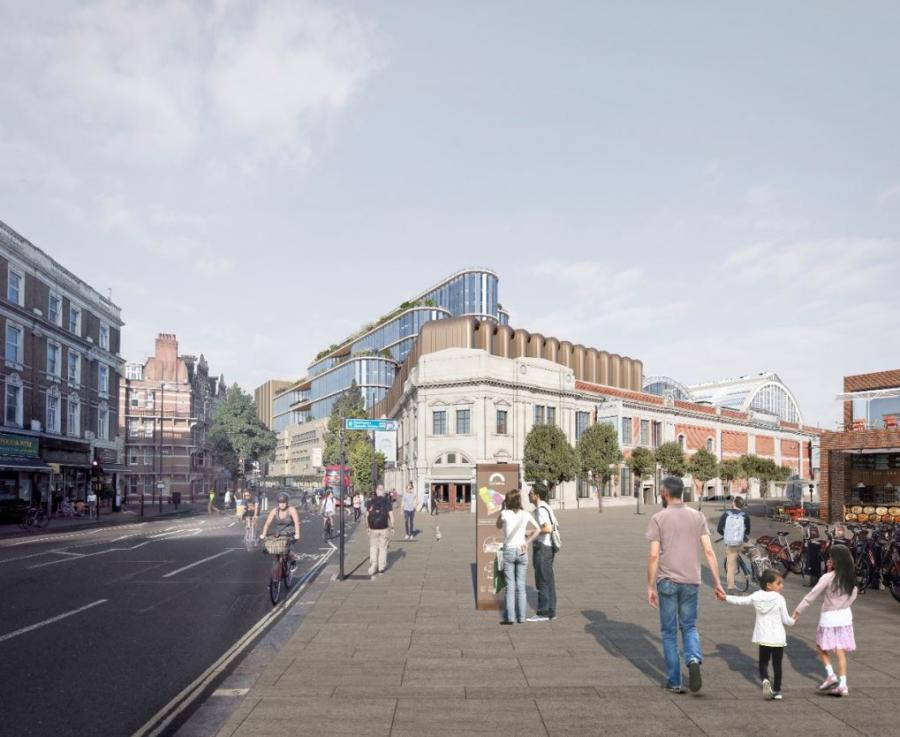 Artists impression: redevelopment of Olympia