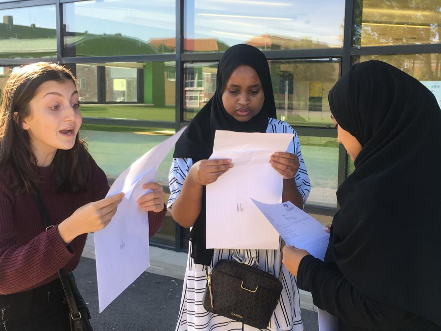 Students at Phoenix Academy react to their GCSE results