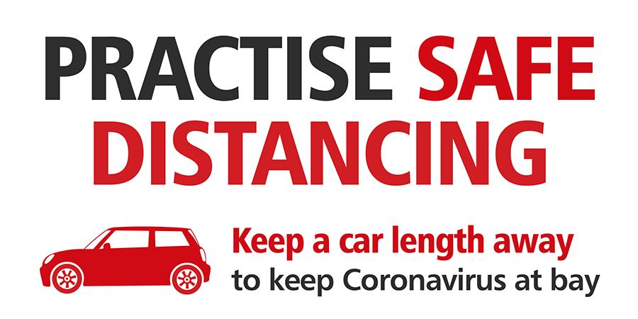 Practice safe distancing