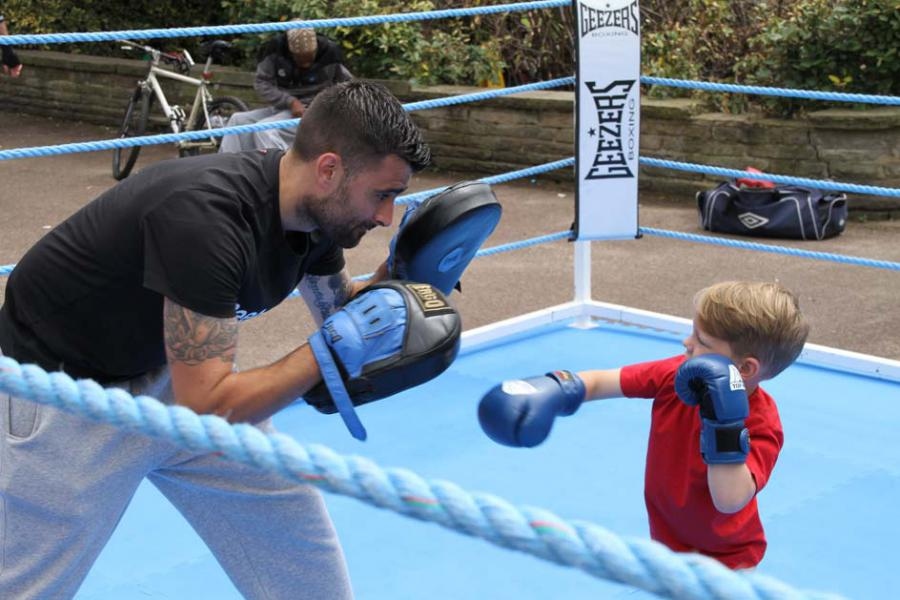 Rory Parsons boxing in South Park
