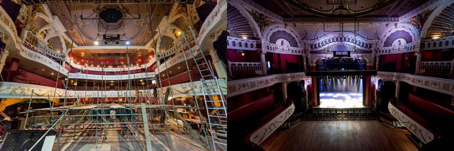 O2 Shepherds Bush Empire stage before and after