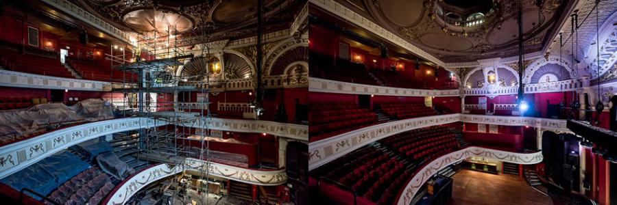 O2 Shepherds Bush Empire auditorium before and after