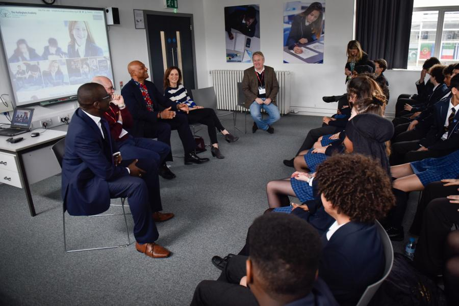 Silent Witness actors and crew thank Hurlingham Academy for its support