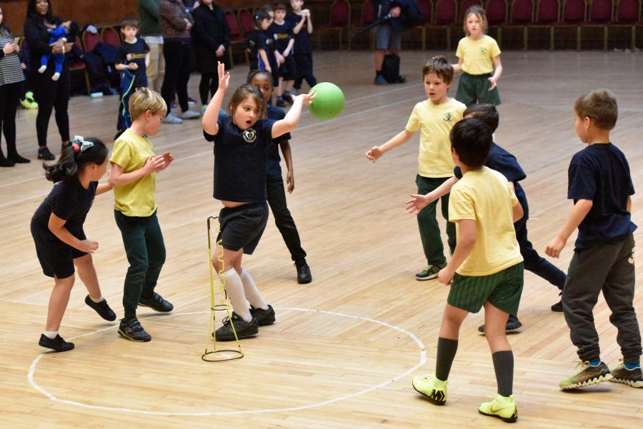 St Pauls play All Saints in the Year 3 skittleball final