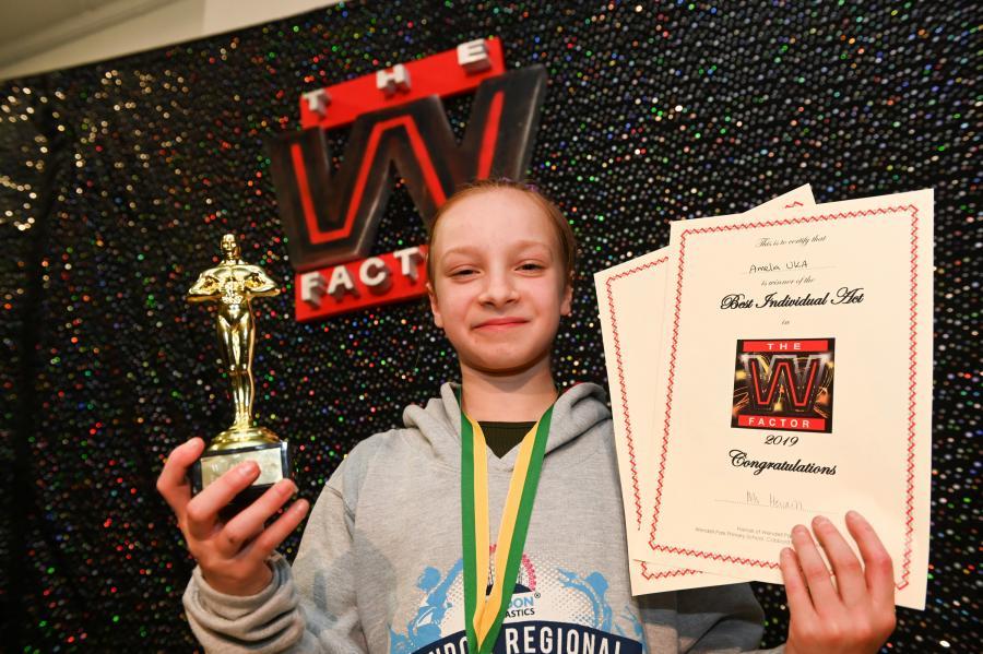 W Factor gymnast Amelia Uka