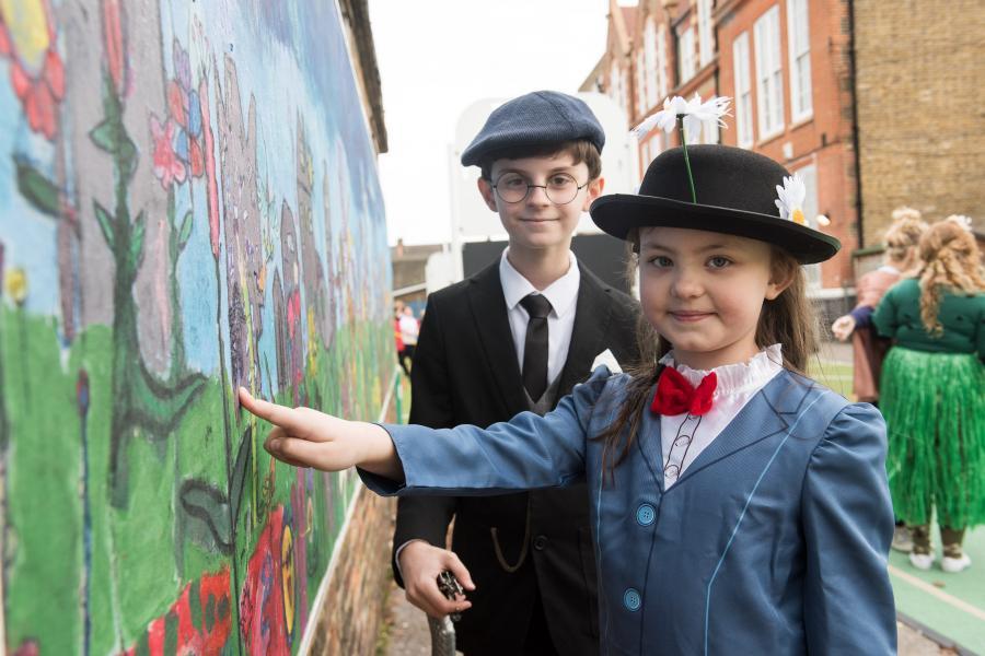 Alex Johnston-Braim, 11 (left) and Emily McNeil, 7