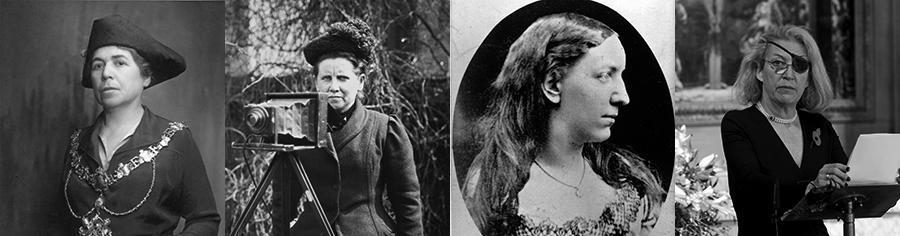 Alice Gilliatt, Christina Broom, Ouida and Marie Colvin